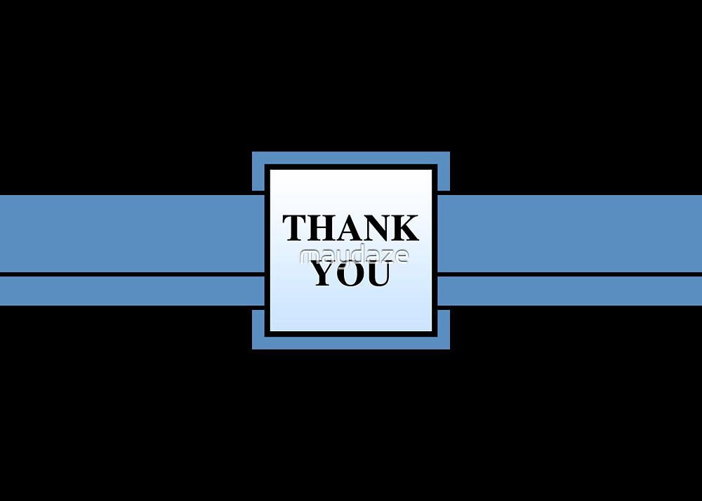 blue ribbon thank you by maydaze