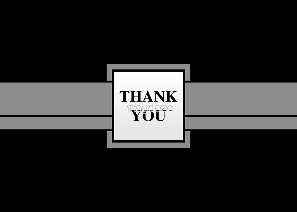 ribbon thank you by maydaze