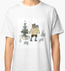 Bear, Christmas Tree and Bunnies Classic T-Shirt