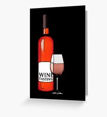 wine tasting card Greeting Card