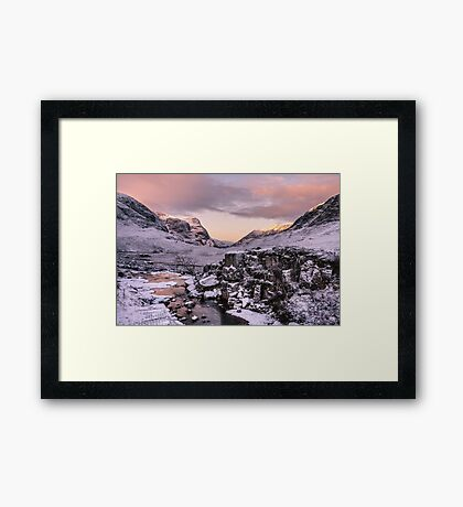 The Three Sisters of Glen Coe Framed Print