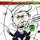 Iran's President Elect Rowhani Caricature by Binary-Options