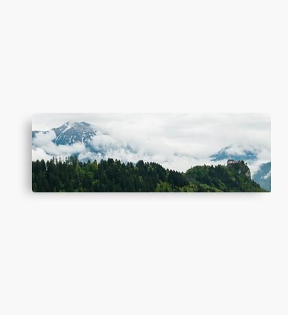 Panorama - Bled Castle Canvas Print