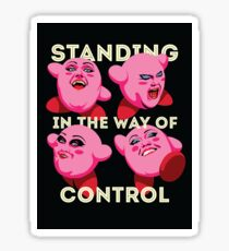 Standing in the Way of Control Sticker