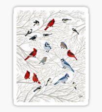 Winter Birds Sticker