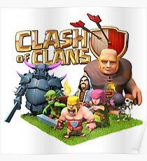 Coc posters redbubble all characters coc poster stopboris Images