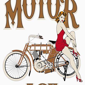 Motor Age Motorcycle Pinup by ryankrupnick