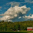 Barn and Clouds by Penny Fawver