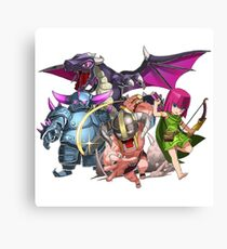 COC Charaters Canvas Print