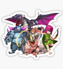 COC Charaters Sticker