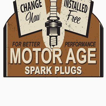 Motor Age Spark Plug by ryankrupnick