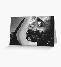 evil dead Greeting Card