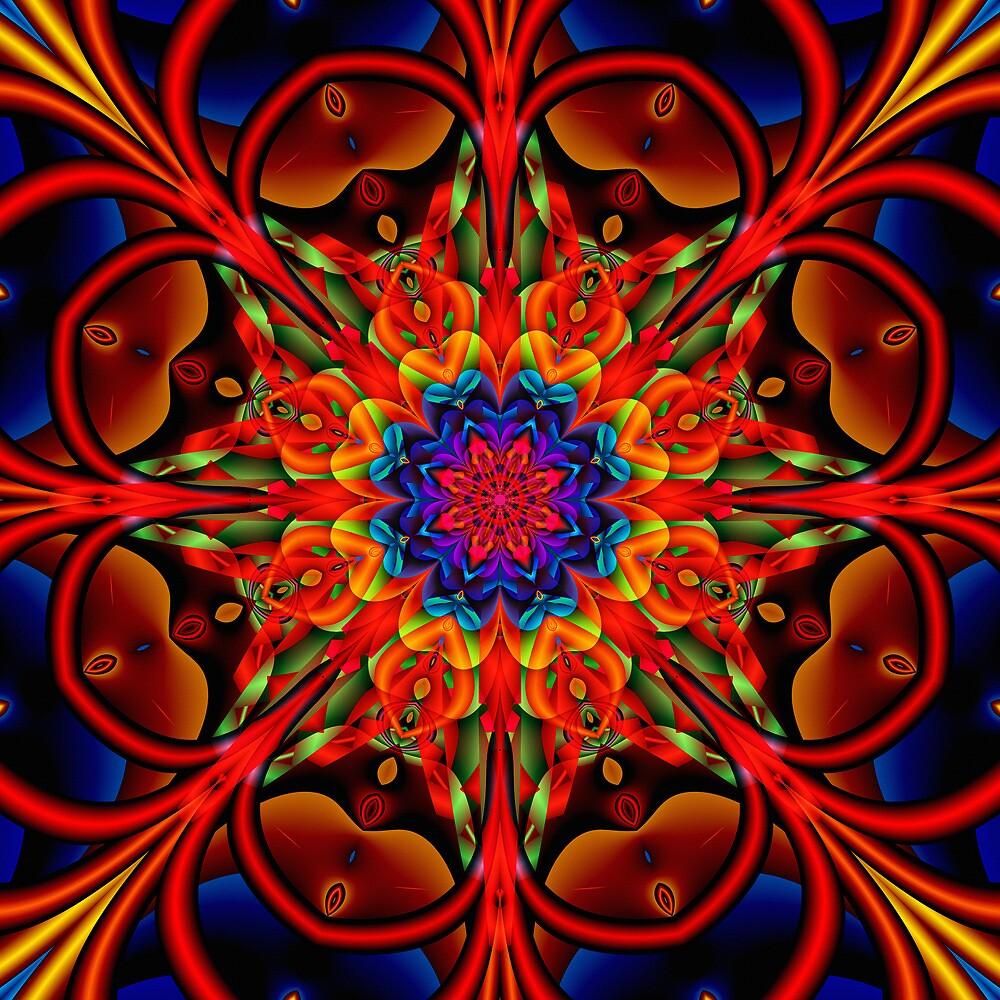 The blooming Kaleidoscope, fractal artwork by walstraasart