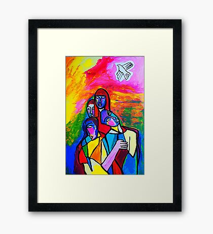 The White Dove Framed Print
