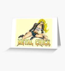 Metal Chick Pin-Up Greeting Card