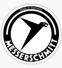Messerschmitt Aircraft Company Logo (Black) Sticker