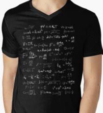 Physik - handgeschrieben T-Shirt mit V-Ausschnitt