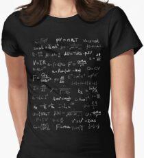 Physics - handwritten Women's Fitted T-Shirt