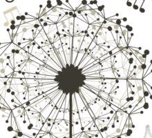 Music a dandelion Sticker