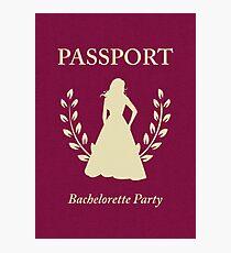 Bachelorette Party Passport Invitation Photographic Print