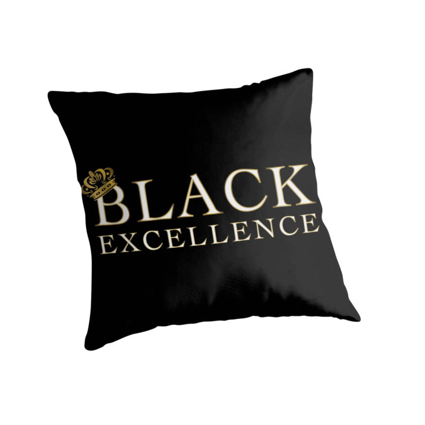Quot Black Excellence Quot Throw Pillows By Msviolethues Redbubble