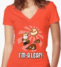 I'm-a Leaf! Women's Fitted V-Neck T-Shirt