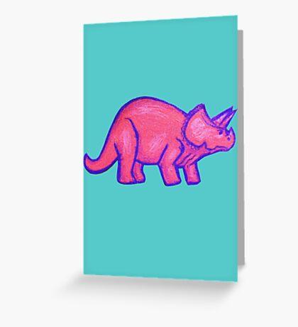 Pink Triceratops  Greeting Card