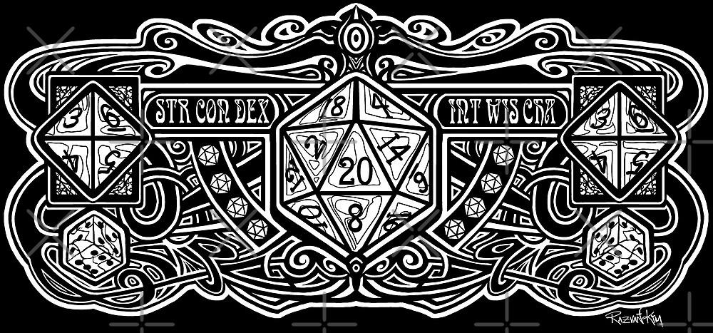 Dark Dice Deco D20 Sticker! by Razvan-Sedekiah