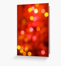 Christmas bokeh Greeting Card