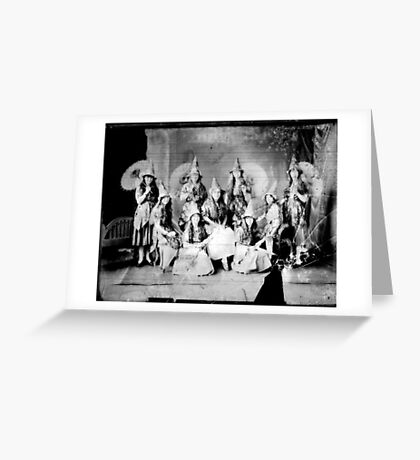 Concert girls photograph - glass negative Greeting Card