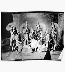 Concert girls photograph - glass negative Poster