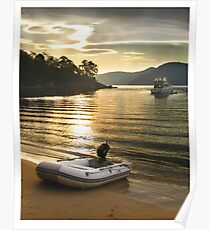 Sunset at seamen's bivouac Poster