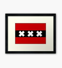 Flag of Amsterdam Framed Print