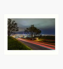 Zoomin to Auckland Art Print