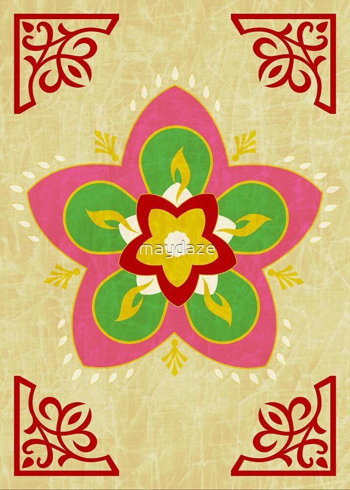 diwali rangoli by maydaze