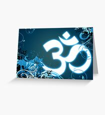 om symbol Greeting Card