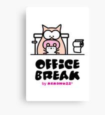 My Office Break - Toilet App Canvas Print