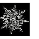 Christmas card with snowflake by Cheryl Hall