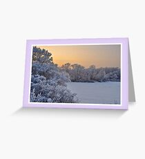 Christmas card with white Christmas snowscene Greeting Card