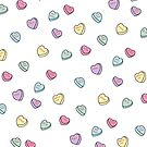 Conversation Candy Hearts by lunalalonde