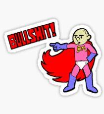 Karl Pilkington is Bullshit Man Sticker