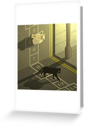 Cat Hopscotch  by AdamSteve1984