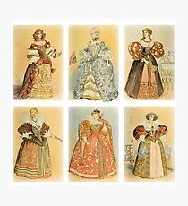 Vintage French fashion (ancien régime) Photographic Print