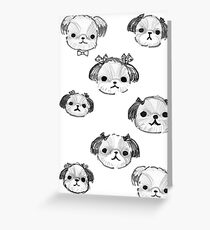 Shihtzu Pups Greeting Card