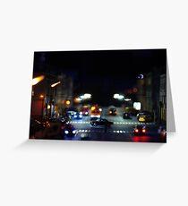 Traffic at Night  Greeting Card
