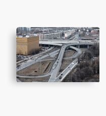 Highway junction  Canvas Print