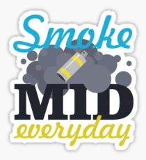 Smoke Mid Everyday Sticker