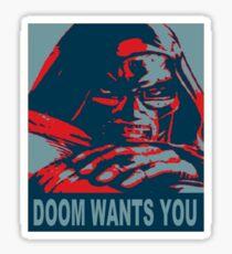 Doom Wants You Sticker