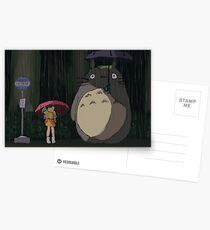 Totoro Rain scene Postcards