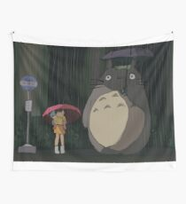 Tela decorativa Escena de Totoro Rain
